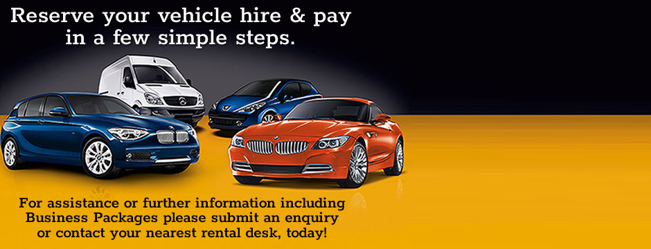 Reserve your vehicle hire and pay online