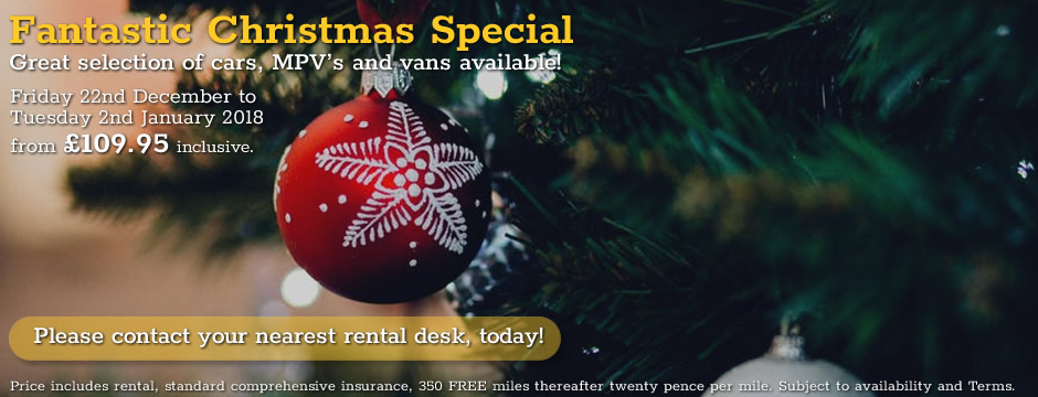 Fantastic Christmas Special Car Hire Deal